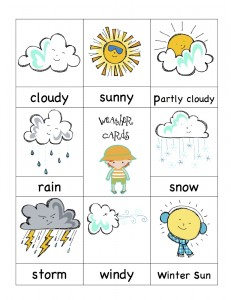 Flashcards Weather Games Juegos Sobre El Tiempo
