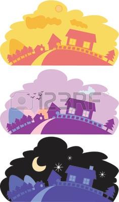 1103502-ilustraci-n-vectorial-de-un-pa-s-pac-fico-paisaje-con-casas-de-lado-y-la-monta-a-en-la-ma-ana-tarde-
